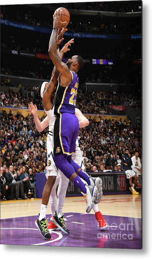 Nba Pro Basketball Metal Print featuring the photograph Michael Jordan and Lebron James by Andrew D. Bernstein