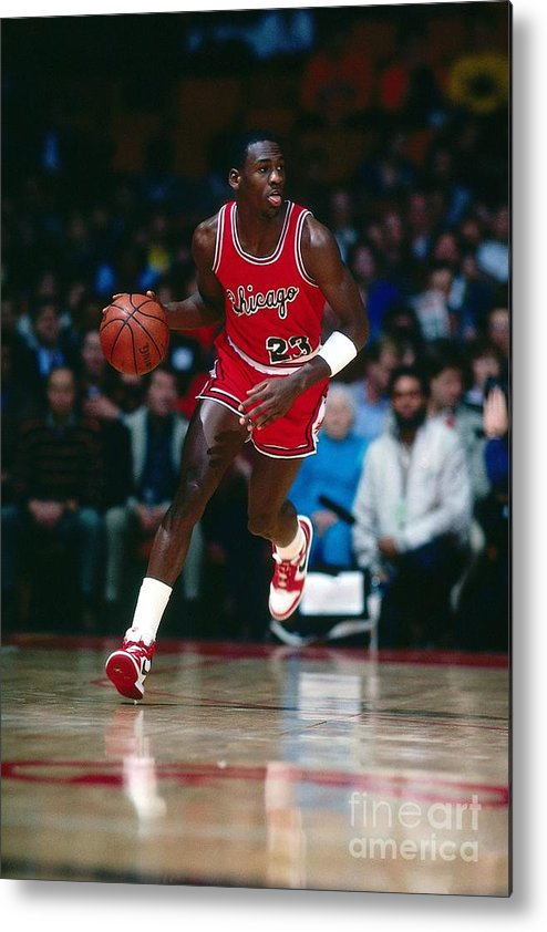 Chicago Bulls Metal Print featuring the photograph Michael Jordan by Scott Cunningham