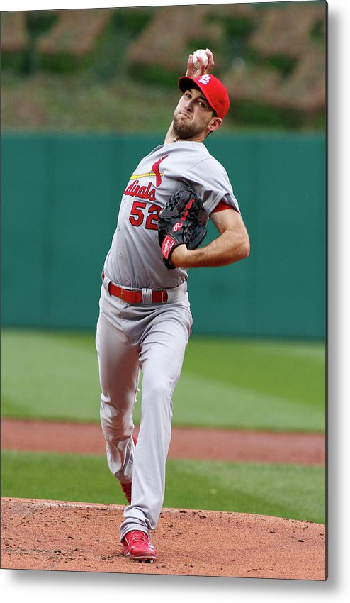 St. Louis Cardinals Metal Print featuring the photograph Michael Wacha by Justin K. Aller