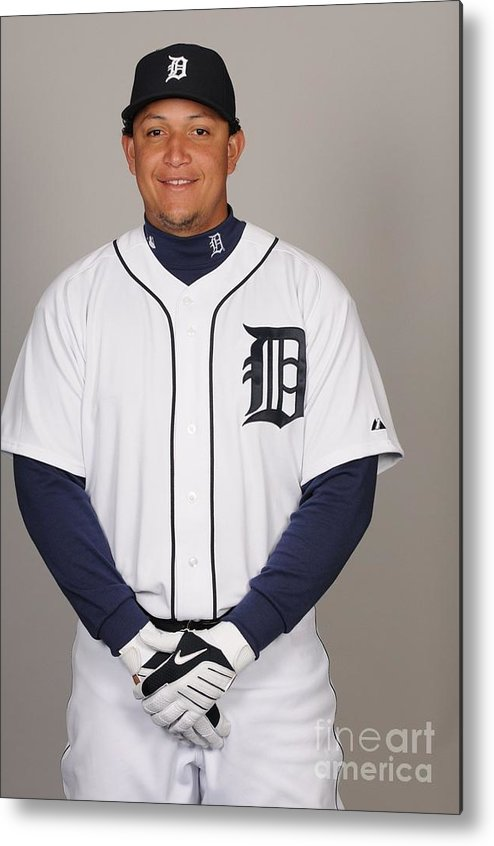 Media Day Metal Print featuring the photograph Miguel Cabrera by Tony Firriolo