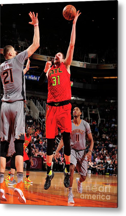 Nba Pro Basketball Metal Print featuring the photograph Mike Muscala by Barry Gossage