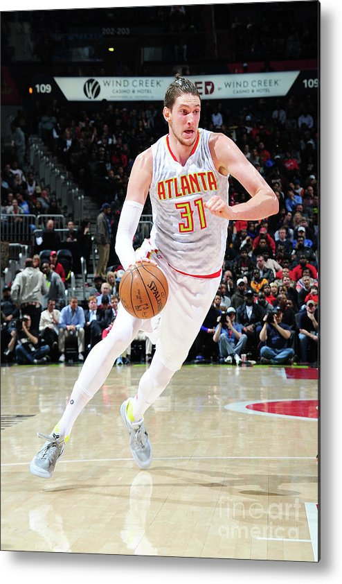 Atlanta Metal Print featuring the photograph Mike Muscala by Scott Cunningham
