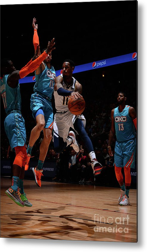 Nba Pro Basketball Metal Print featuring the photograph Monte Morris by Bart Young