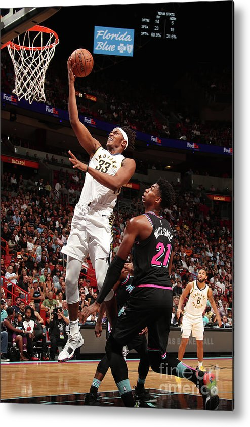 Nba Pro Basketball Metal Print featuring the photograph Myles Turner by Issac Baldizon