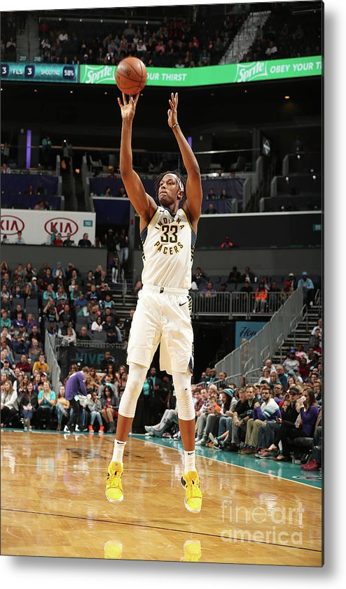 Nba Pro Basketball Metal Print featuring the photograph Myles Turner by Kent Smith
