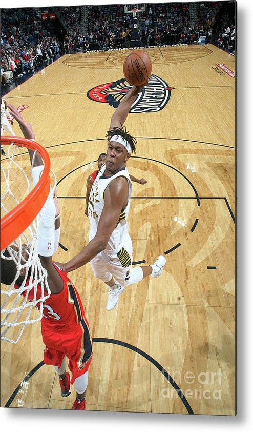 Smoothie King Center Metal Print featuring the photograph Myles Turner by Layne Murdoch
