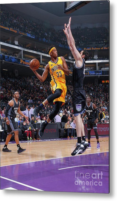 Nba Pro Basketball Metal Print featuring the photograph Myles Turner by Rocky Widner