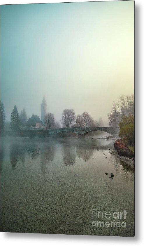 Kremsdorf Metal Print featuring the photograph Mystery By The Lake by Evelina Kremsdorf