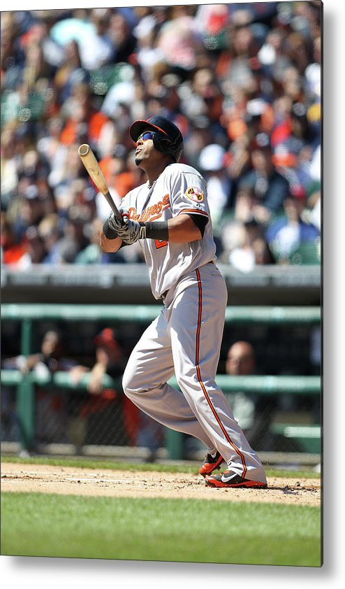 American League Baseball Metal Print featuring the photograph Nelson Cruz by John Grieshop