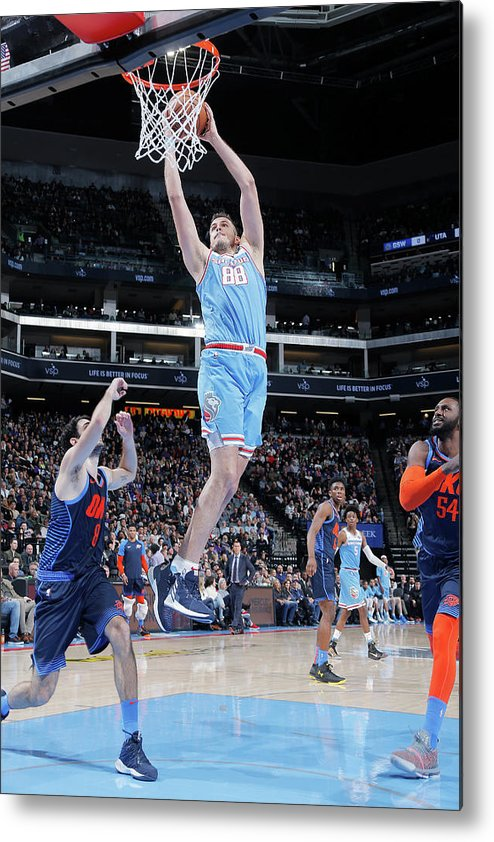 Nba Pro Basketball Metal Print featuring the photograph Nemanja Bjelica by Rocky Widner