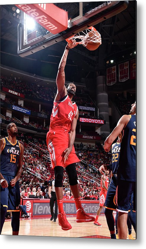 Nba Pro Basketball Metal Print featuring the photograph Nene Hilario by Bill Baptist