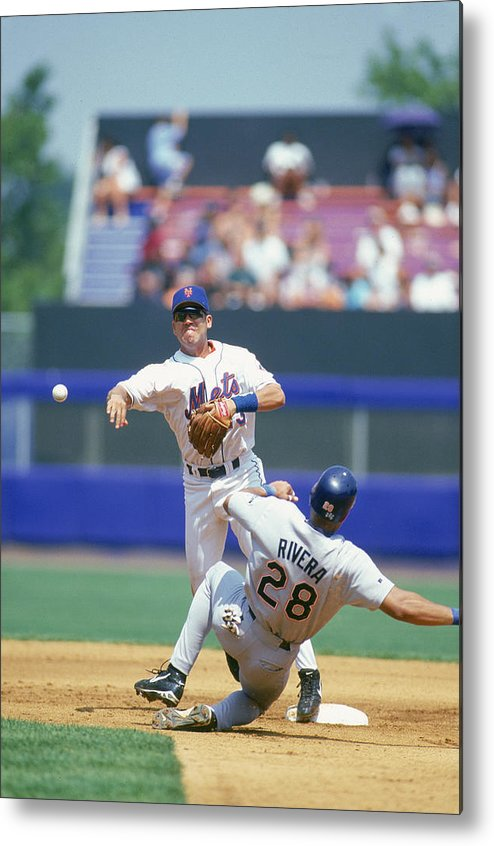 National League Baseball Metal Print featuring the photograph New York Mets by Rich Pilling
