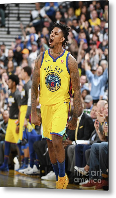 Nba Pro Basketball Metal Print featuring the photograph Nick Young by Garrett Ellwood