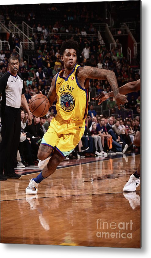 Sports Ball Metal Print featuring the photograph Nick Young by Michael Gonzales