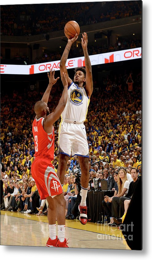 Playoffs Metal Print featuring the photograph Nick Young by Noah Graham