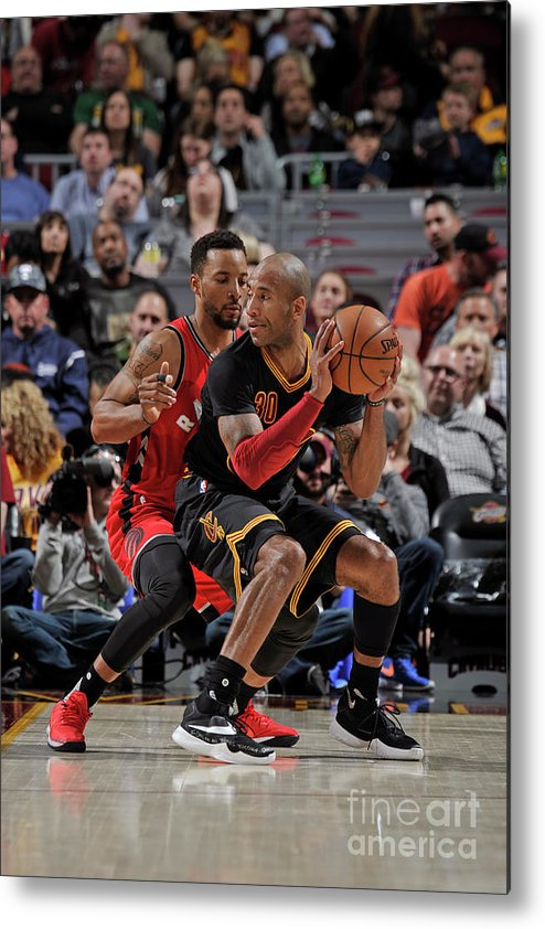 Nba Pro Basketball Metal Print featuring the photograph Norman Powell and Dahntay Jones by David Liam Kyle