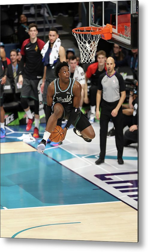 Nba Pro Basketball Metal Print featuring the photograph Og Anunoby by Kent Smith