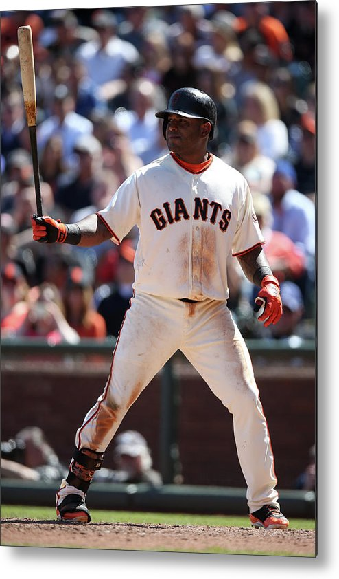 San Francisco Metal Print featuring the photograph Pablo Sandoval by Brad Mangin