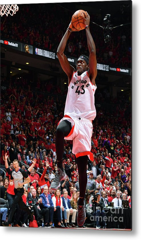 Playoffs Metal Print featuring the photograph Pascal Siakam by Jesse D. Garrabrant