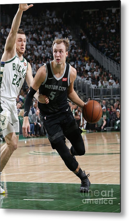 Playoffs Metal Print featuring the photograph Pat Connaughton and Luke Kennard by Gary Dineen
