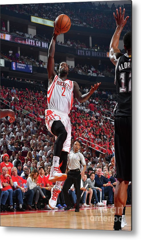 Playoffs Metal Print featuring the photograph Patrick Beverley by Jesse D. Garrabrant