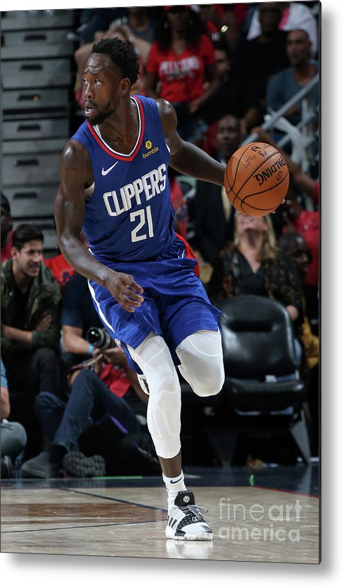 Smoothie King Center Metal Print featuring the photograph Patrick Beverley by Layne Murdoch Jr.
