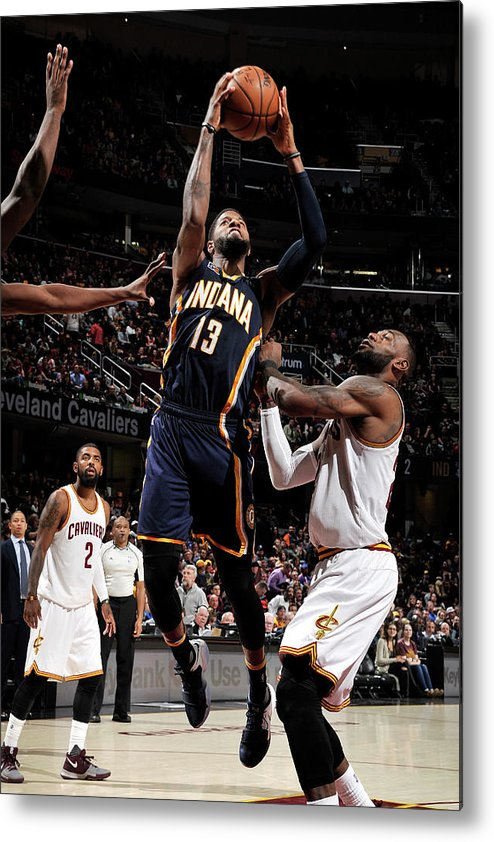 Nba Pro Basketball Metal Print featuring the photograph Paul George by David Liam Kyle