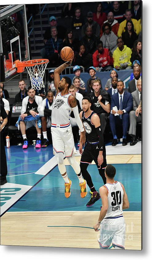 Nba Pro Basketball Metal Print featuring the photograph Paul George by Jesse D. Garrabrant