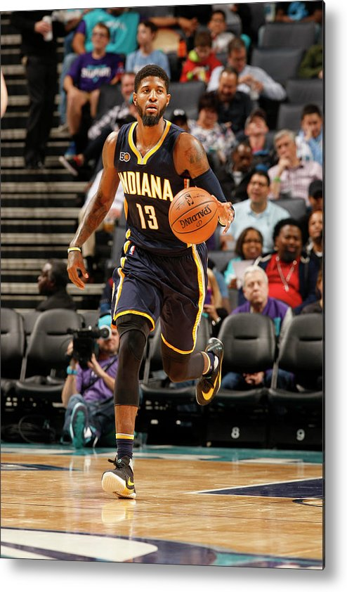 Nba Pro Basketball Metal Print featuring the photograph Paul George by Kent Smith