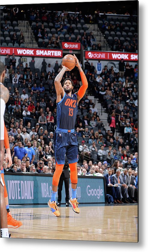Nba Pro Basketball Metal Print featuring the photograph Paul George by Mark Sobhani