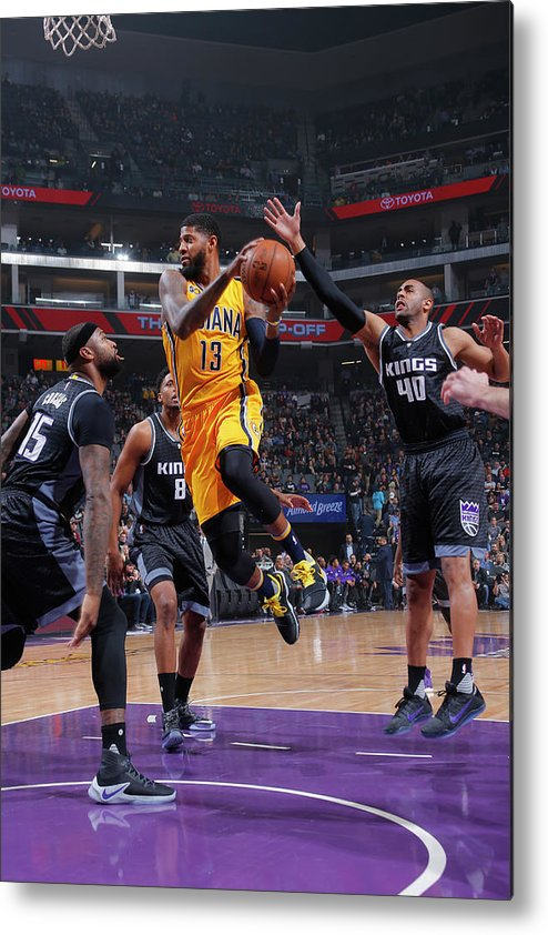 Nba Pro Basketball Metal Print featuring the photograph Paul George by Rocky Widner