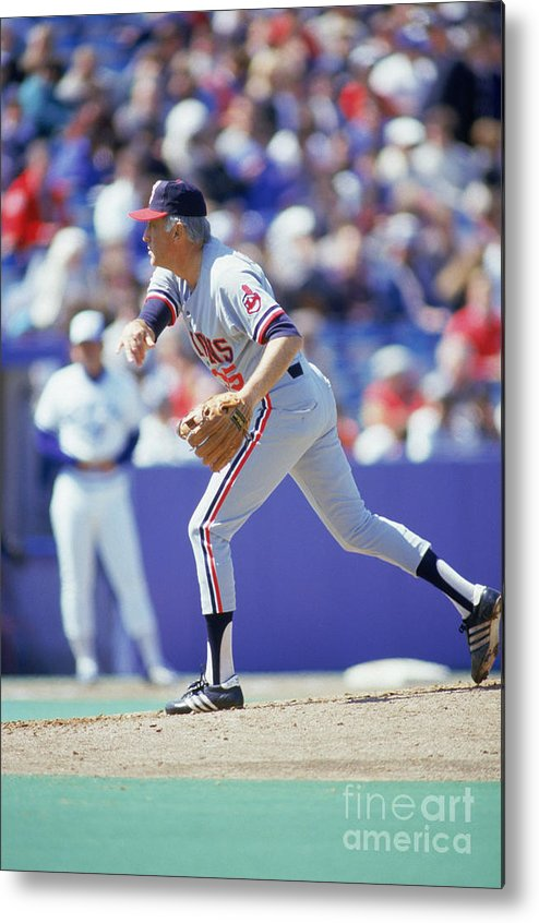 1980-1989 Metal Print featuring the photograph Phil Niekro by Gray Mortimore