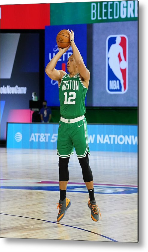 Playoffs Metal Print featuring the photograph Philadelphia 76ers v Boston Celtics - Game Two by Jesse D. Garrabrant
