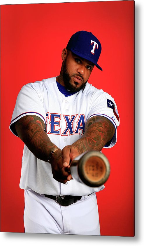 Media Day Metal Print featuring the photograph Prince Fielder by Jamie Squire