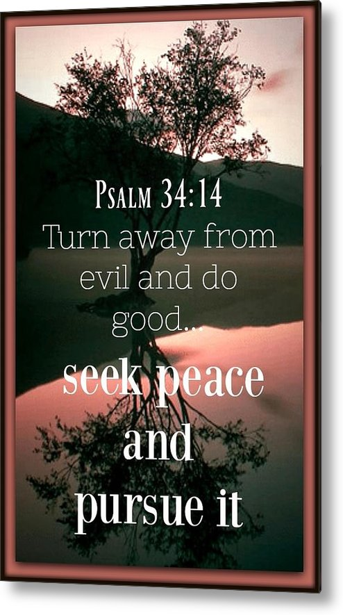 God Metal Print featuring the photograph Psalm 34 14 by David Norman