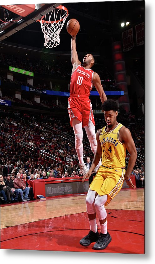 Nba Pro Basketball Metal Print featuring the photograph Quinn Cook and Eric Gordon by Bill Baptist