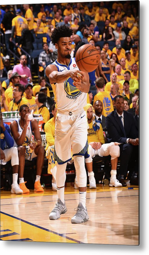 Playoffs Metal Print featuring the photograph Quinn Cook by Noah Graham