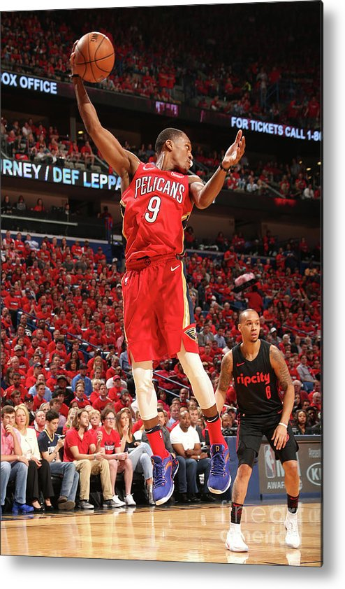 Smoothie King Center Metal Print featuring the photograph Rajon Rondo by Layne Murdoch