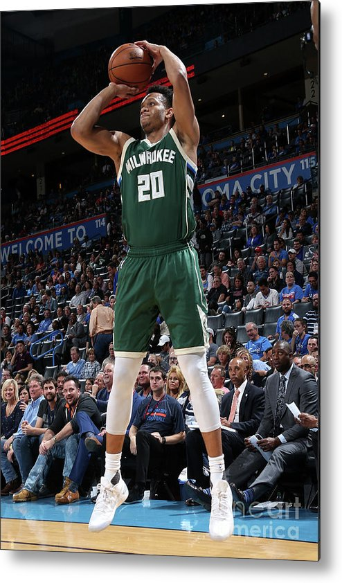 Nba Pro Basketball Metal Print featuring the photograph Rashad Vaughn by Layne Murdoch