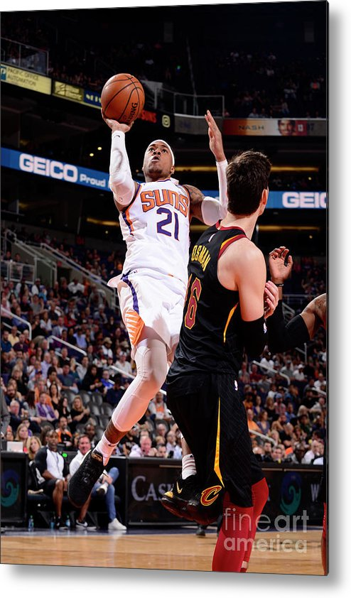 Nba Pro Basketball Metal Print featuring the photograph Richaun Holmes by Barry Gossage