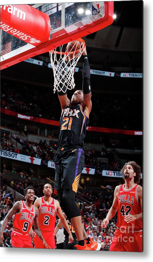 Nba Pro Basketball Metal Print featuring the photograph Richaun Holmes by Jeff Haynes