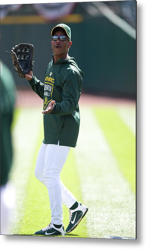 People Metal Print featuring the photograph Rickey Henderson by Jason O. Watson