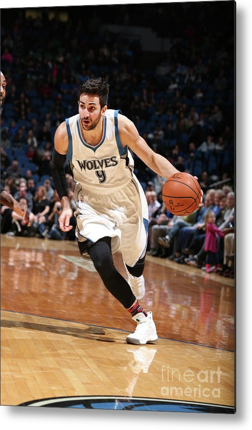 Nba Pro Basketball Metal Print featuring the photograph Ricky Rubio by David Sherman