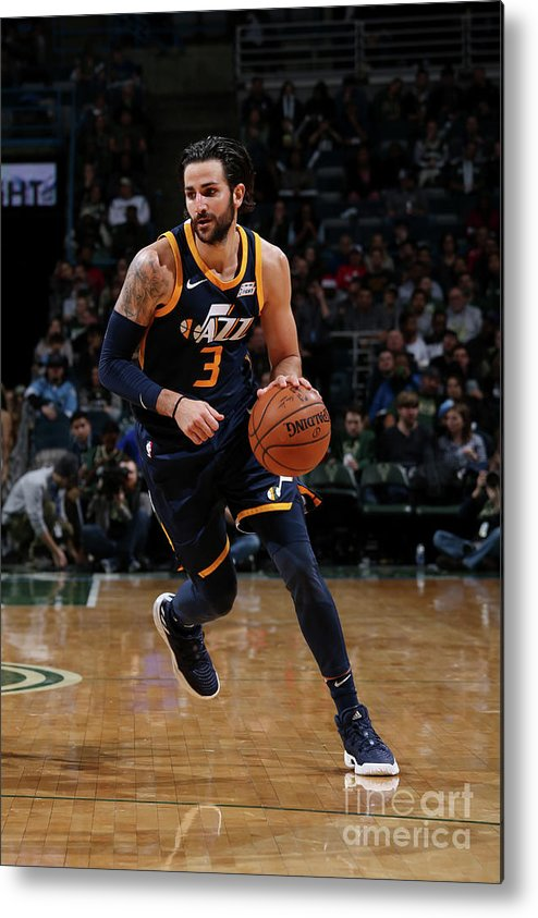 Nba Pro Basketball Metal Print featuring the photograph Ricky Rubio by Gary Dineen
