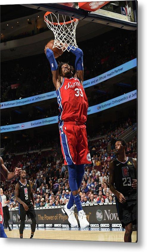 Nba Pro Basketball Metal Print featuring the photograph Robert Covington by David Dow