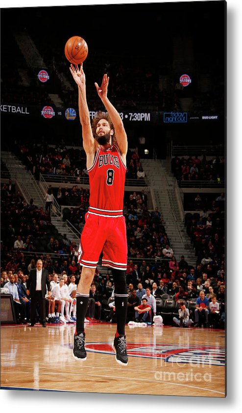 Nba Pro Basketball Metal Print featuring the photograph Robin Lopez by Brian Sevald