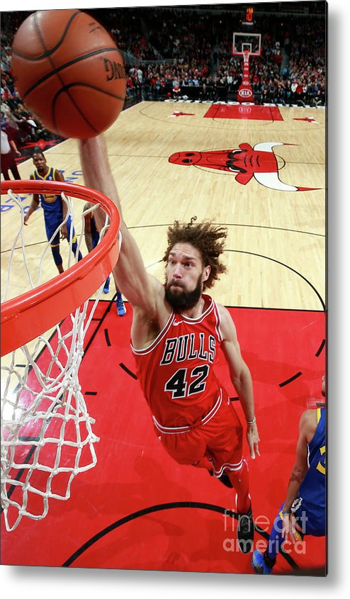 Nba Pro Basketball Metal Print featuring the photograph Robin Lopez by Jeff Haynes