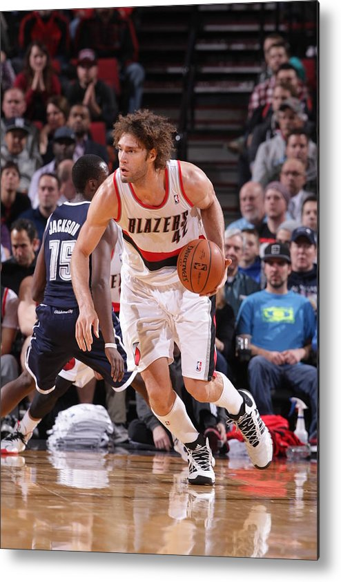 Nba Pro Basketball Metal Print featuring the photograph Robin Lopez by Sam Forencich