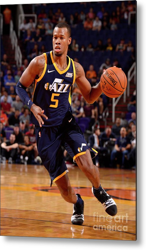 Nba Pro Basketball Metal Print featuring the photograph Rodney Hood by Barry Gossage