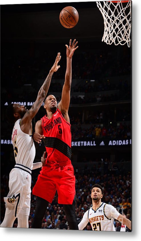 Playoffs Metal Print featuring the photograph Rodney Hood by Bart Young
